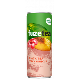 Black tea peach hibiscus
